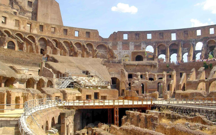 The Inside of the Colosseum