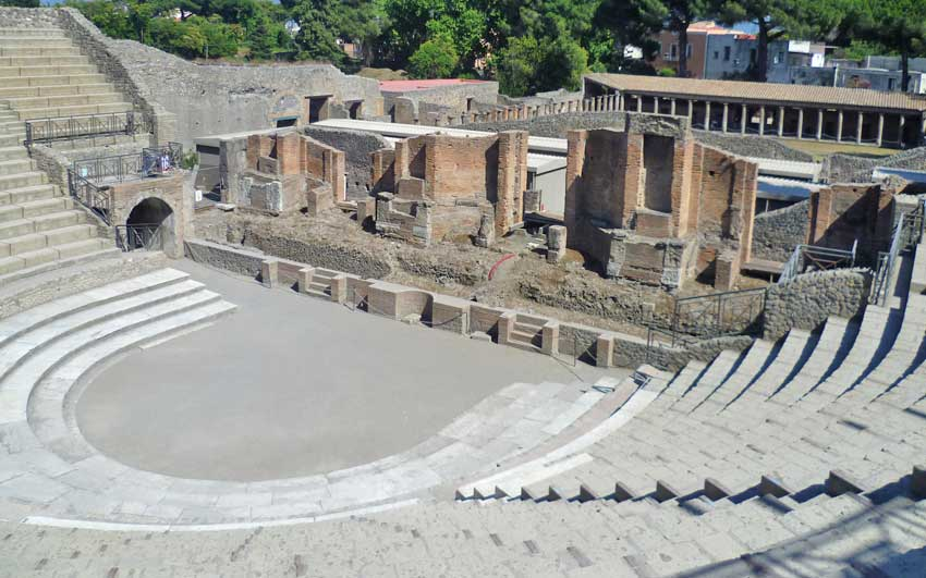 The theatre in Pompeii