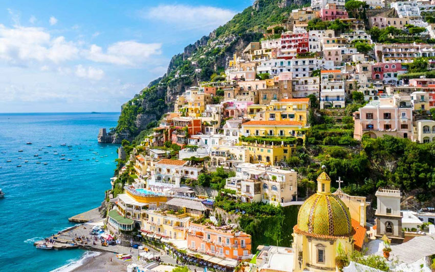 how to get positano from naples