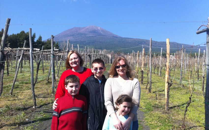 At the farm on Mount Vesuvius